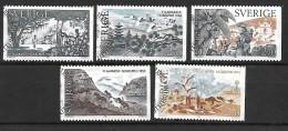 Suède 1985 N°1346/1350 Oblitérés Prix Nobel De Littérature - Used Stamps