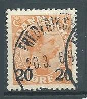 Danemark YT N°172 Roi Christian X Surchargé Oblitéré ° - Used Stamps