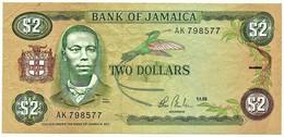 Jamaica - 2 Dollars - 1.1.1985 - Pick 65.b - Sign. 7 - Prefix AK - Jamaica
