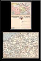 8024 France Guerre 1914/1918 Carte Postale Double Map Franchise Militaire (postcard) Neuve - Guerre De 1914-18