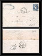 8938 LAC 1874 N 60B Type 2 Ceres 25c GC 842 Chalon-sur-Saone Bureau De Passe 1307 Tournus Saone Et Loire Lettre - 1849-1876: Periodo Classico