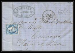 8940 LAC Entete Poulain 1874 N 60B Type 2 Ceres 25c GC 396 Beaune Cote D'Or Tournus Saone Et Loire Lettre - 1849-1876: Periodo Classico