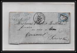8941 LAC Entete Epicerie Charrin 1874 N 60B Type 2 Ceres 25c GC 3581 St-Etienne Tournus Saone Et Loire Lettre - 1849-1876: Periodo Classico