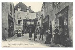 Saint Benoît Du SAULT, ( Indre ), Place De L'Enchère Rare Bureau De Tabac - Other Municipalities