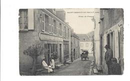 SAINT BENOIT DU SAULT (Indre) Hotel De France Attelage Rare - Bords Abimés Manques - Other Municipalities