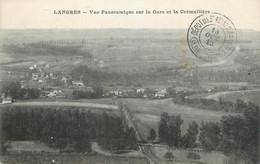 """CPA FRANCE 52 """" Langres, Vue Panoramique Sur La Gare Et La Crémaillère"""". - Langres"""
