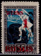 Latvia, 1920, Liberation Kurzeme, Overprint New Value 1R/35K, Sc#91, Used - Lettland