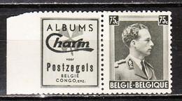 PU99*  Leopold III Col Ouvert - Charm Postzegels - MH* - Rousseurs - LOOK!!!! - Werbung