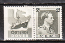 PU103*  Leopold III Col Ouvert - Oostende-Dover - MH* - LOOK!!!! - Werbung