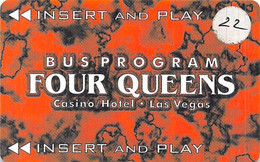 Four Queens Casino - Las Vegas, NV - Bus Card / Slot Card - Tarjetas De Casino