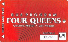 Four Queens Casino Las Vegas Bus Card - Tarjetas De Casino