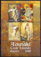 Aitutaki 2015 Easter. Painting. Murillo Block * * MNH - Aitutaki