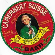 ETIQUETTE DE FROMAGE SUISSE NEUVE 10 CM   CAMEMBERT BAER - Cheese