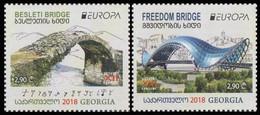 Georgia 2018 Mi# 710-711 Europe Besleti & Freedom Bridges * * - Georgia