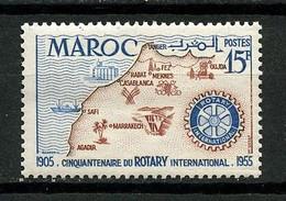 MAROC 1955 N° 344 ** Neuf MNH  Superbe C 1.68 € Rotary International Carte Logo - Nuevos