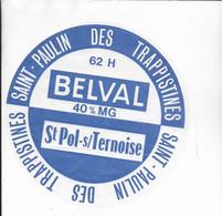 ETIQUETTE DE FROMAGE  NEUVE   18CM ABBAYE DE BELVALSAINT PAULIN  DES TRAPPISTINES BELVAL   ST POL SUR TERNOISE - Cheese