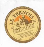 ETIQUETTE DE FROMAGE  NEUVE  8 CM ABBAYE DE BELVAL LE TERNOIS   TROISVAUX - Cheese