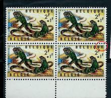 Bloc De 4 Bdf Du N° 1345 V1 - Dernier E De Belgique Incomplet - (état: **) - Plaatfouten (Catalogus OCB)