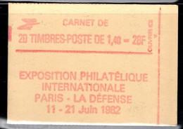 France Carnet 2154 C1a Sabine De Gandon Ouvert Date Conf 8 Gomme Mate - Uso Corrente