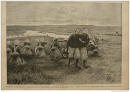 Expédition De Madagascar - Combat De Tsarasotra Le Lieutenant Augey-Dufresse - Page Original 1895 - Historical Documents