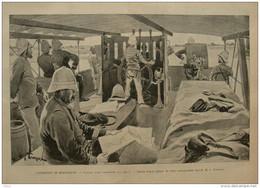 Expédition De Madagascar - L'avant D'une Cannonière Sur L'Ikopa - Page Original 1895 - Historical Documents