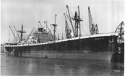 """PHOTO Bateau """" Saint Lo """" C.G.T Compagnie Générale Transatlantique Liberty 1943 Los Angeles Ex """" James Buchanan """" - Boats"""