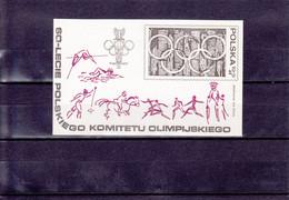 60° ANNIVERSAIRE DU COMITé OLYMPIQUE POLONAIS/FEUILLETNEUFS**/N° 82 YVERT ET TELLIER/1979 - Blocks & Sheetlets & Panes