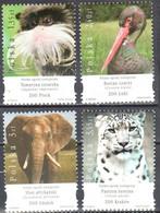 Poland  2007 - Zoo Animals - Mi.4327-30 - MNH(**) - Unused Stamps