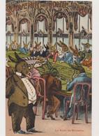 Carte Fantaisie Humoristique / Souvenir De Monte-Carlo .  La Salle De Roulette. Anes Humanisés - Gruss Aus.../ Grüsse Aus...