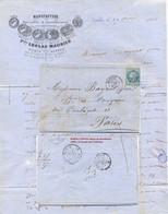 LAC NANTES LOIRE-ATLANTIQUE TàD 29 AOUT 66 GC 2602 => TàD PARIS  BUREAU CENTRAL RAYON DISTRIBUTION 11 - 1849-1876: Periodo Classico