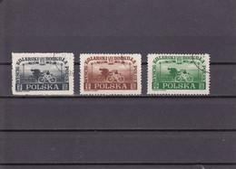 TOUR CYCLISTE DE POLOGNE  OBLITéRé UNE SéRIE DE 3 VALEURS  N° 515/517 YVERT ET TELLIER 1948 - Used Stamps