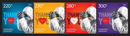 Armenia Arménie Armenien 2021 Mi 1190-93 Thanks To Healthcare Workers Pandemic COVID-19 Coronavirus-4 Stamps MNH** - Armenia