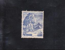 CHAMPIONNATS DU MONDE DE SKI à ZAKOPANE 55 GR. BLEU  NEUF * N°425 YVERT ET TELLIER 1939 - Unused Stamps