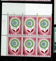 Bloc De 6 Cdf (Europa) N° 1299 Cu - Point Après L     - (état: **) - Curiosa