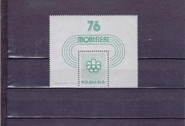 ANNONCE DES JEUX OLYMPIQUES DE MONTREAL DE 1976/NEUF **/ BLOC N° 67 YVERT ET TELLIER 1975 - Blocks & Sheetlets & Panes