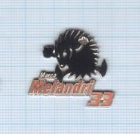 Pin's Moto Marco Melandri N° 33 Signé Daring Neuf - Motorfietsen