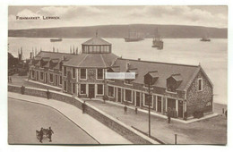 Lerwick - Fish Market - Old Shetland Postcard - Shetland