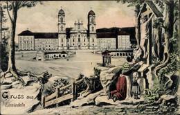 Artiste CPA Einsiedeln Kanton Schwyz Schweiz, Hotel Schweizerhof, Gebet - SZ Schwyz