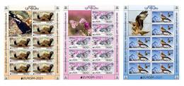 Artsakh - Karabakh - Armenia - 2021 MNH** Mi 231-233 Europa Fauna Marbled Polecat, Butterfly, Eagle - Armenien
