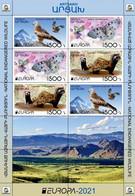 Artsakh - Karabakh - Armenia - 2021 MNH** Mi 231-233 Europa Fauna Marbled Polecat, Butterfly, Eagle -M/S - Armenien