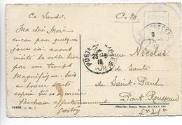 TURIN TORINO Italie Guerre 14 18 Cachet Violet D'ORO Annexe De Turin - T.M. Parc Automobile 1918    ....G - Zonder Classificatie
