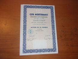 CLUB MEDITERRANEE (1957) - Unclassified