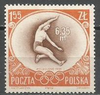 Poland,Gold Medal On SOG-Melbourne '56 1956.,MNH - Unused Stamps