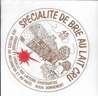 ETIQUETTE DE FROMAGE Neuve 20 Cm Brie Au Lait Cru Coop Des Vallees De Meldancon Et Du Puits DONNEMENT AUBE - Cheese