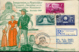 South Africa Südafrika Mi# 217-9 Used On Letter Or FDC -  Inauguration Of The Vortrekker Monument - European Settlers - FDC