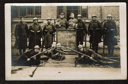 Carte Photo 1923 - Armée Belge D'Occupation - Souvenir De Grevenbroich - 1er Rgt De Ligne - 2e Cie - Ier Bataillon - - Barracks