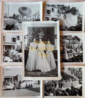 Chagny  - Mi-carême 1956 - Lot De 7 Photos - Places