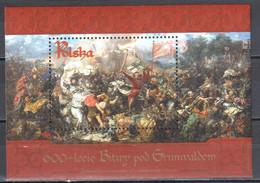 Poland 2010 - 600 Years Of Grunwald Battle - Mi.ms 195 - MNH(**) - Blocks & Sheetlets & Panes
