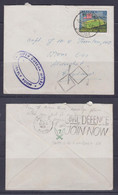 """Malaya 1957 Cover From Kluang To England With """"2/7th GURKHA RIFLES"""" Cachet - Malesia (1964-...)"""