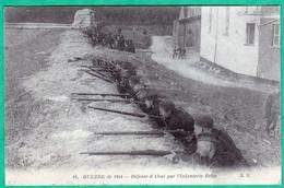 84 - GUERRE DE 1914 - DEFENSE D'ALOST PAR L'INFANTERIE BELGE - Guerra 1914-18